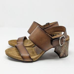 Pedro Garcia Brown Boho Sandal Heels